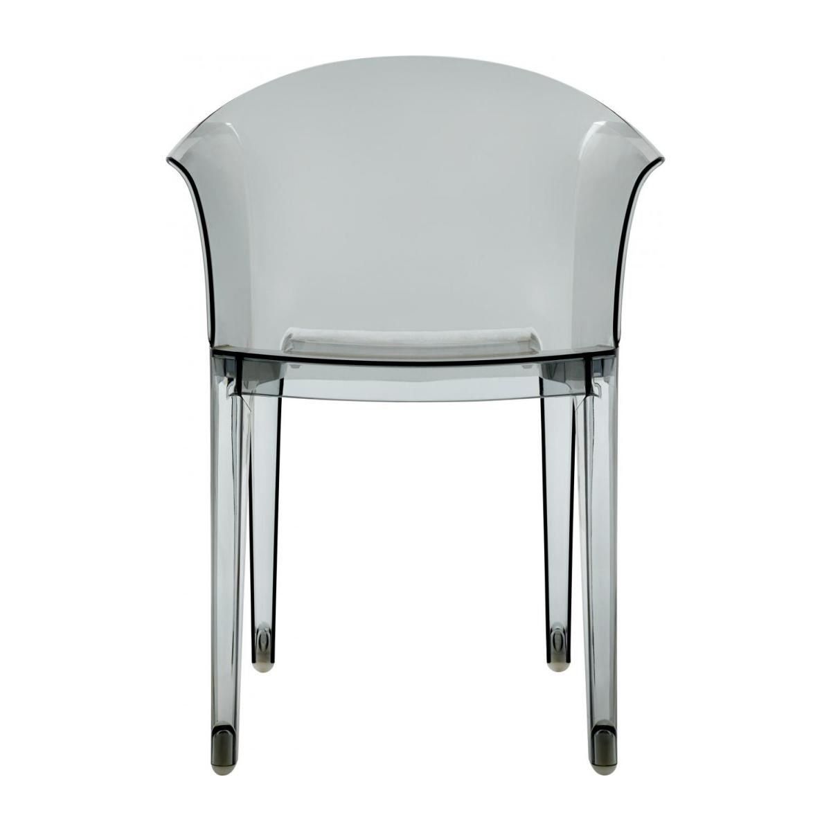 Smokey grey armchair in polycarbonate n°3