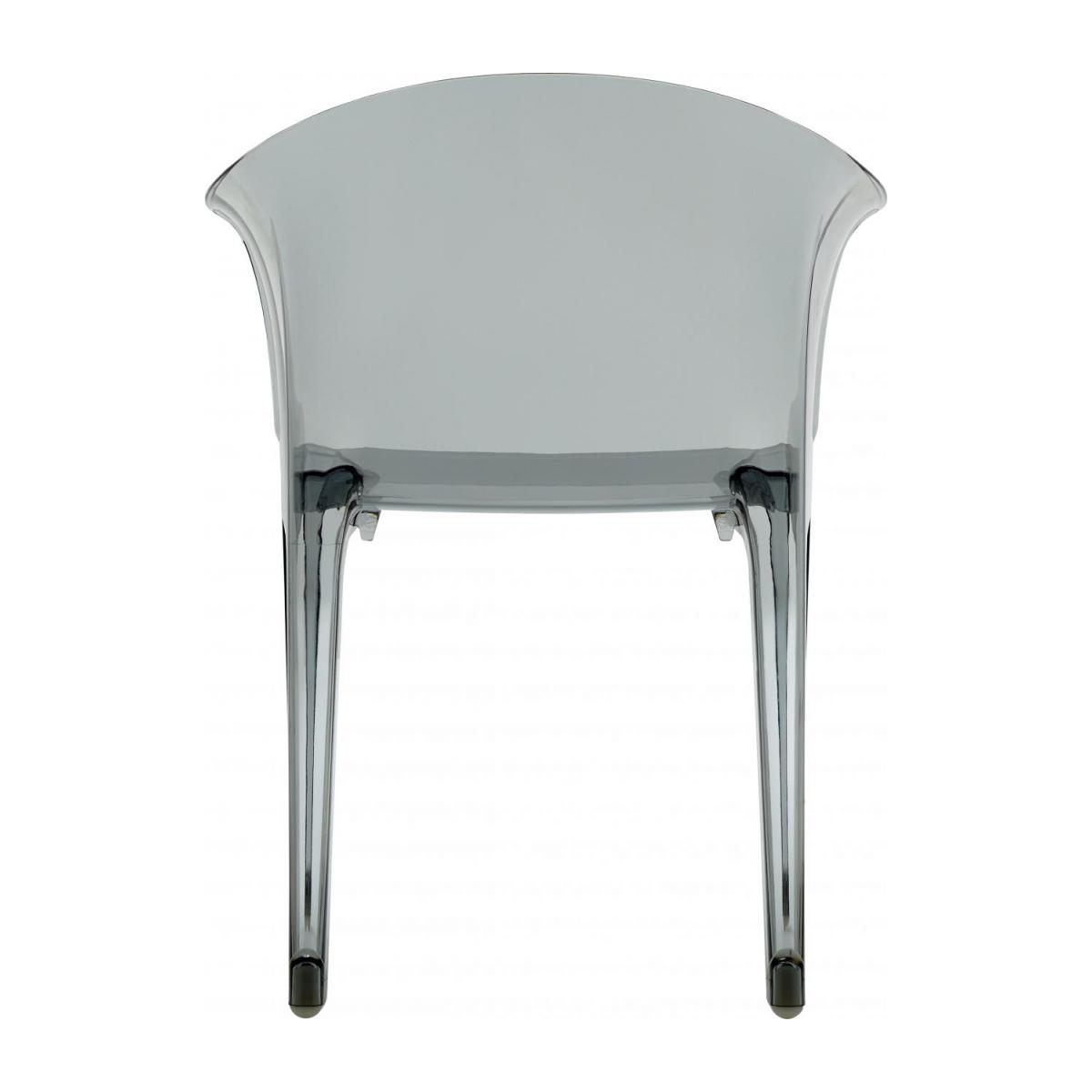 Smokey grey armchair in polycarbonate n°4