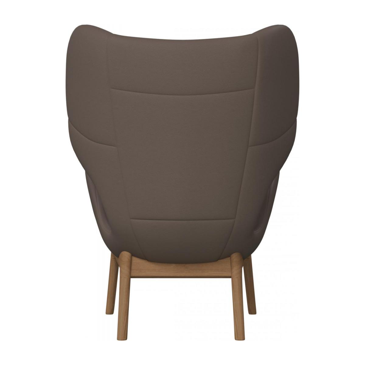 Armchair in Eton veined leather, stone n°4