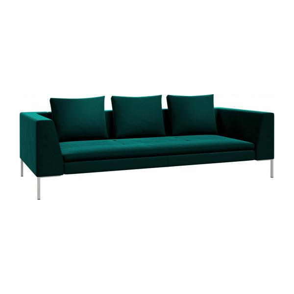 montino 3 sitzer sofa aus samt super velvet petrol blue habitat. Black Bedroom Furniture Sets. Home Design Ideas