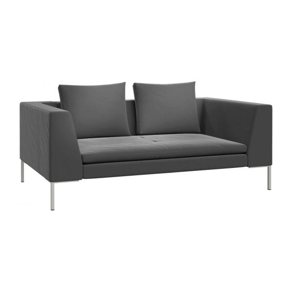 montino 2 sitzer sofa aus samt grau habitat. Black Bedroom Furniture Sets. Home Design Ideas