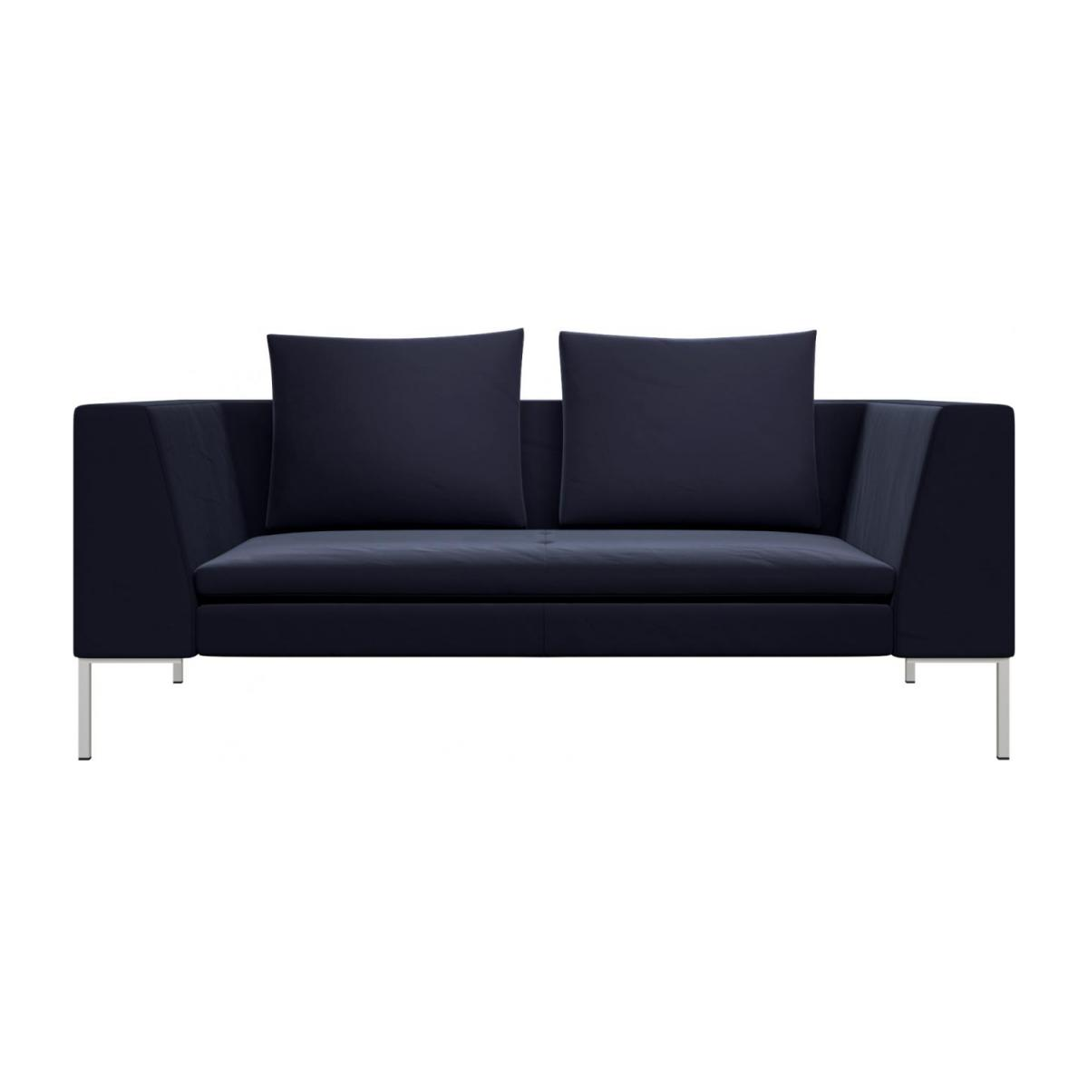 2 seater sofa in Super Velvet fabric, dark blue n°2