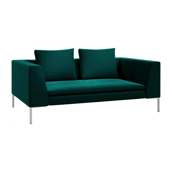 2 seater sofa in Super Velvet fabric, petrol blue