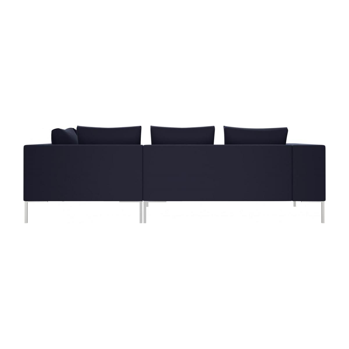 2 seater sofa with chaise longue on the right in Super Velvet fabric, dark blue  n°3
