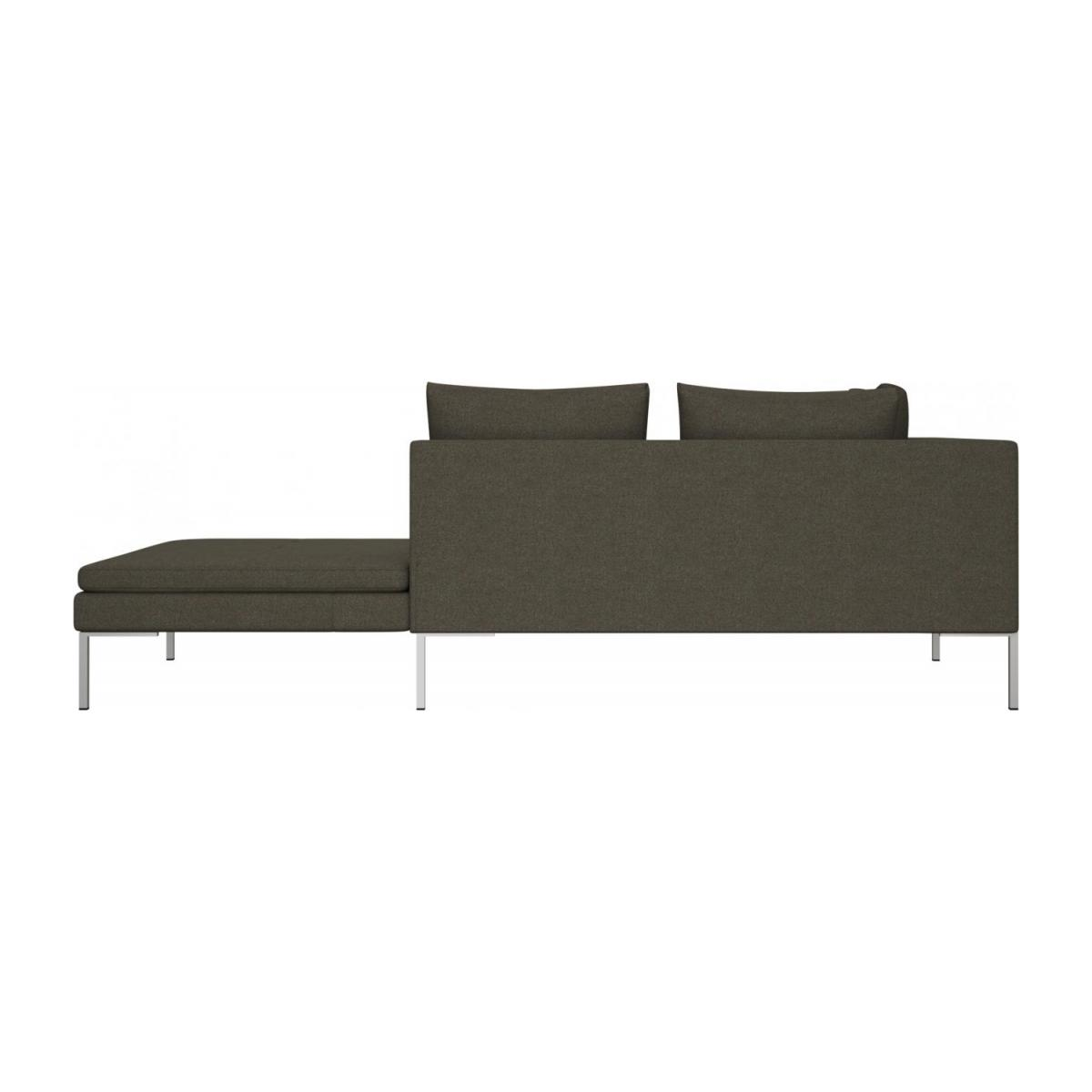 Right chaise longue in Lecce fabric, slade grey n°3
