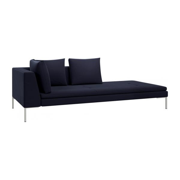 montino m ridienne droite en velours super velvet dark blue habitat habitat. Black Bedroom Furniture Sets. Home Design Ideas