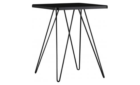 Lacquered Side Table Black