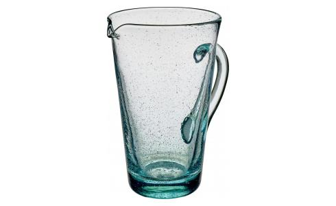Mouthblown Recycled Glass Jug 1.2L