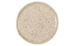 Black Patterned Stoneware Dinner Plate Cream D27cm