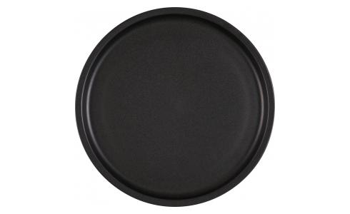 Stoneware Dinner Plate Matt Black D26.5cm
