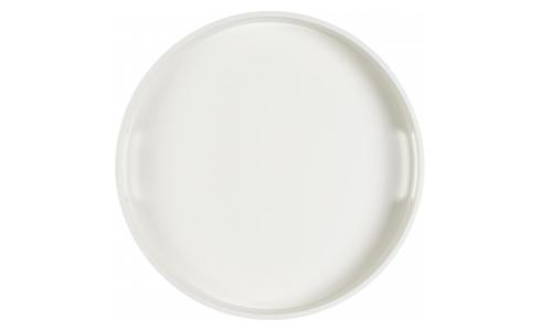 Lacquered Tray Round White 45cm