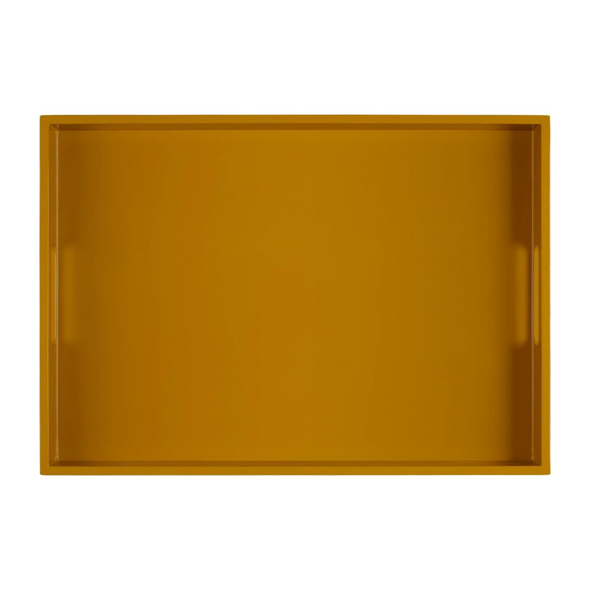 Lacquered Tray Rec. Yellow Mustard 50x35cm n°1