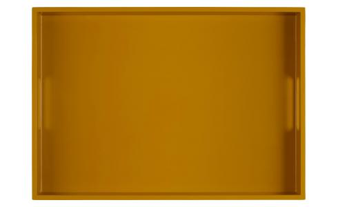 Lacquered Tray Rec. Yellow Mustard 50x35cm