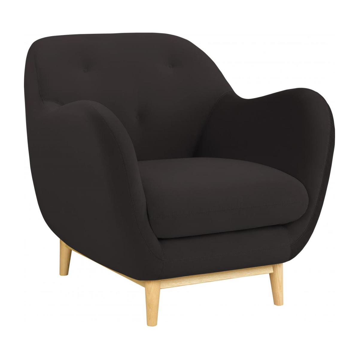 Armchair made of velvet, grey n°1