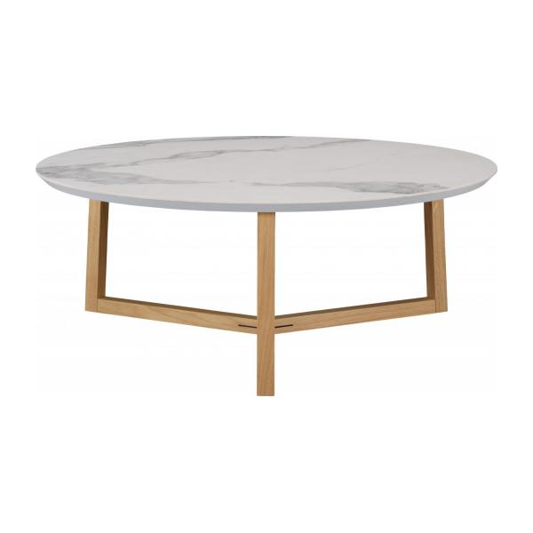 GIULIA/TABLE BASSE MARBRE BLAN n°1