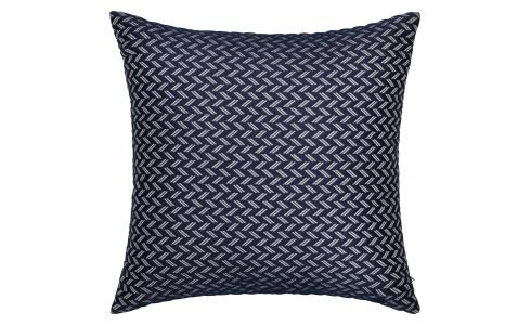 Cushion 45x45cm Black and White with Chevron Detail