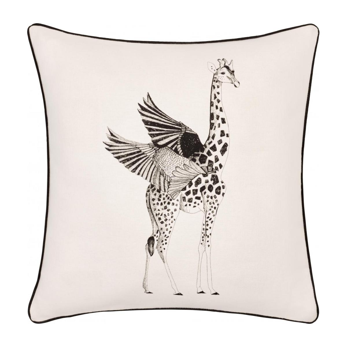 Giraffe Patterned Printed Cotton Cushion 40x40cm n°1