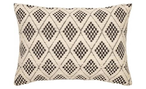 Hanwoven Wool Cushion Black and White 40x60cm