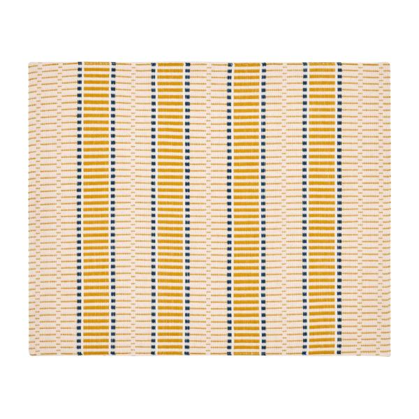 Set of 2 Mustard Patterned Placemats n°1