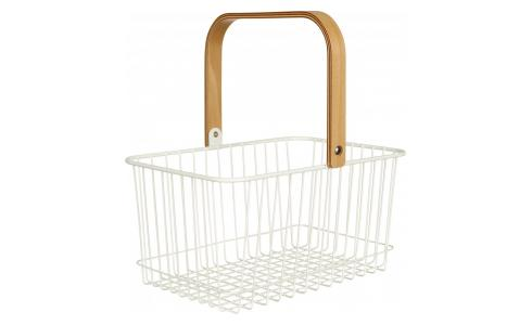Metal Basket White