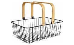 Metal Basket Black