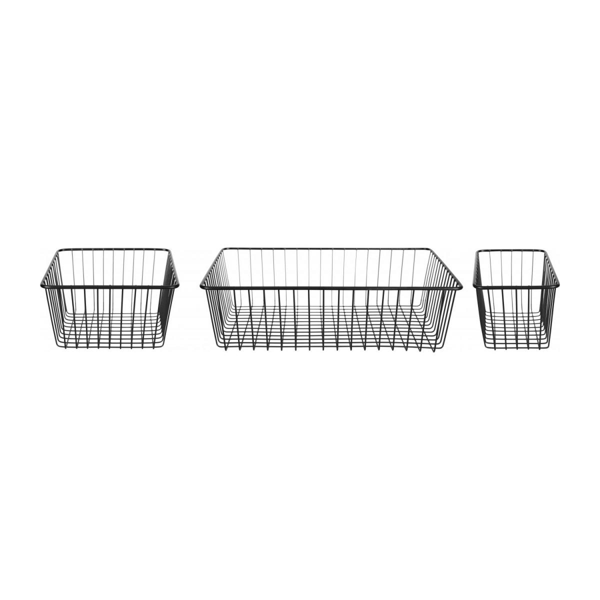 Metal Bathroom Basket Set of 3 n°2