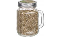 Basil Seeds in Glass Mug