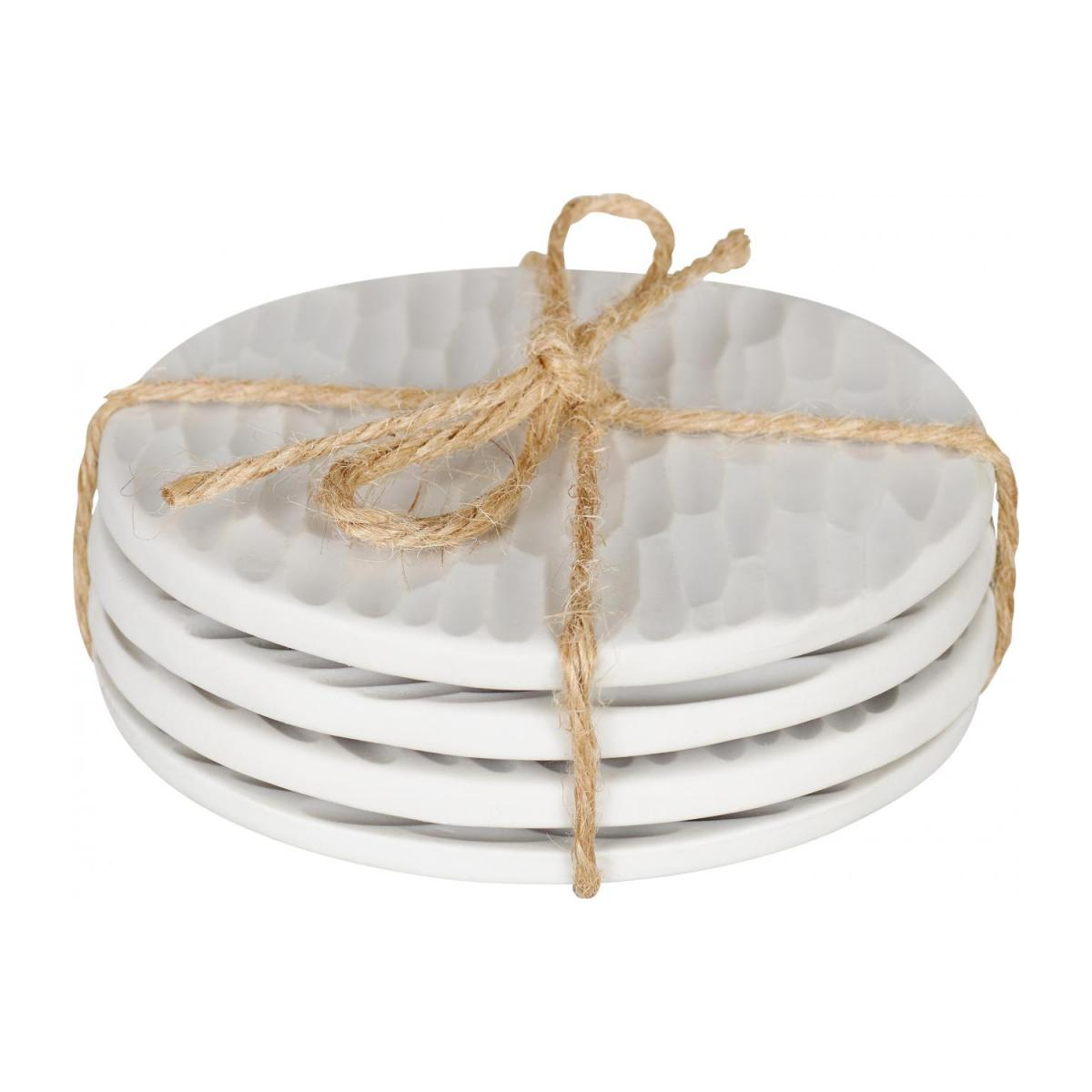 Porcelain Coasters White x4 n°1