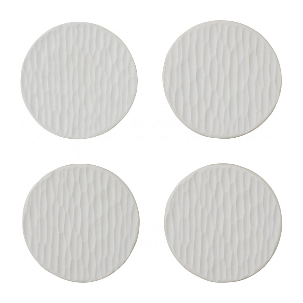 Porcelain Coasters White x4 n°3