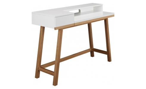 Desk White and Oak