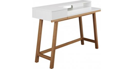 Theo desk white and oak habitat