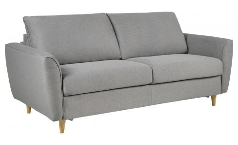 3 seater Fabric Sofa Bed Light Grey
