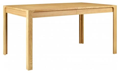 Oak wood extending table