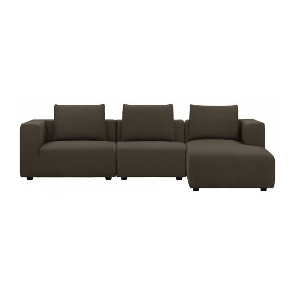 ponta 3 sitzer sofa mit chaiselongue rechts aus stoff lecce muscat habitat. Black Bedroom Furniture Sets. Home Design Ideas