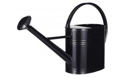Black Galvanized Steel Watering Can