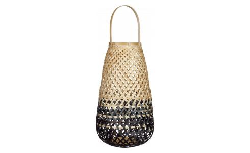 Bamboo Lantern Black and Natural