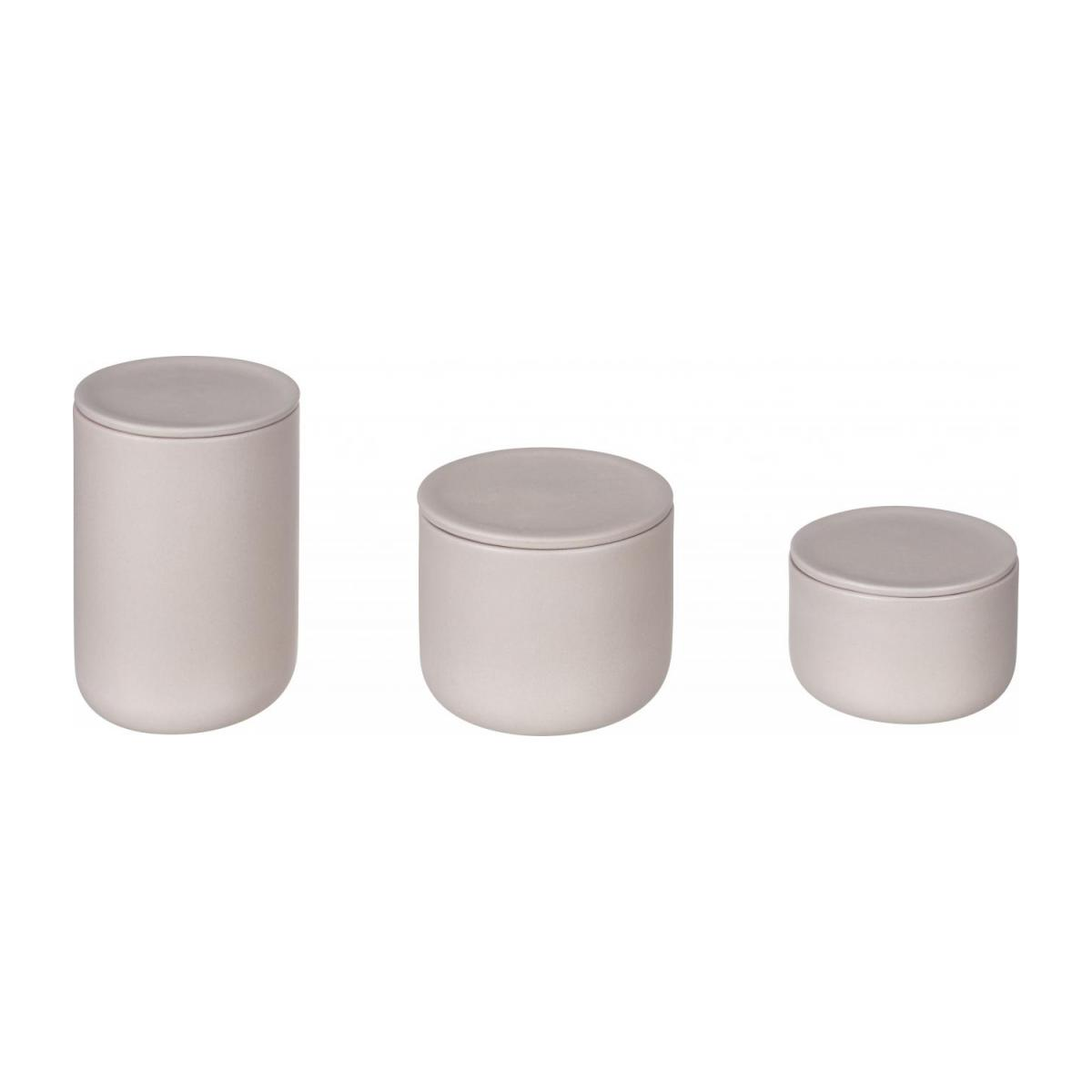 Stoneware Grey Boxes Set of 3 with lids n°3