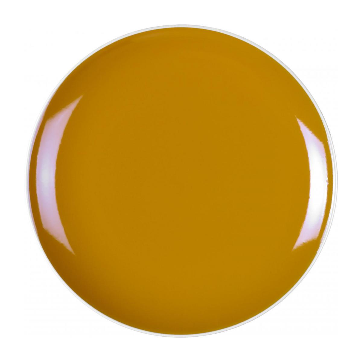 Stoneware Dinner Plate Yellow Mustard D27cm n°1