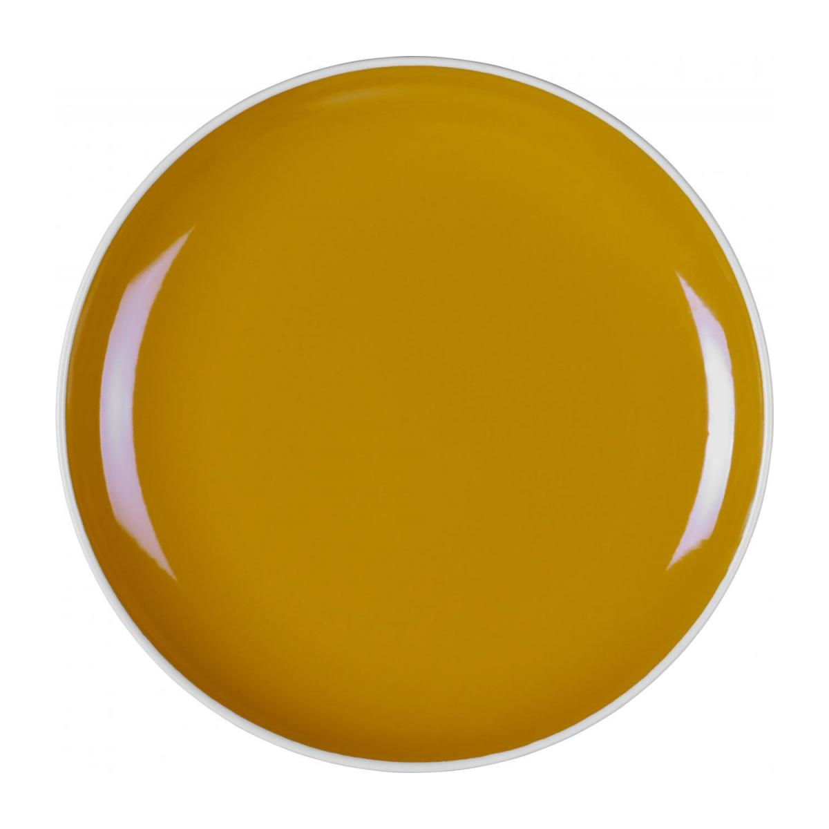 Stoneware Side Plate Yellow Mustard D21.5cm  n°1