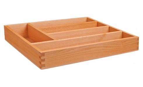 Cutlery tray in wood