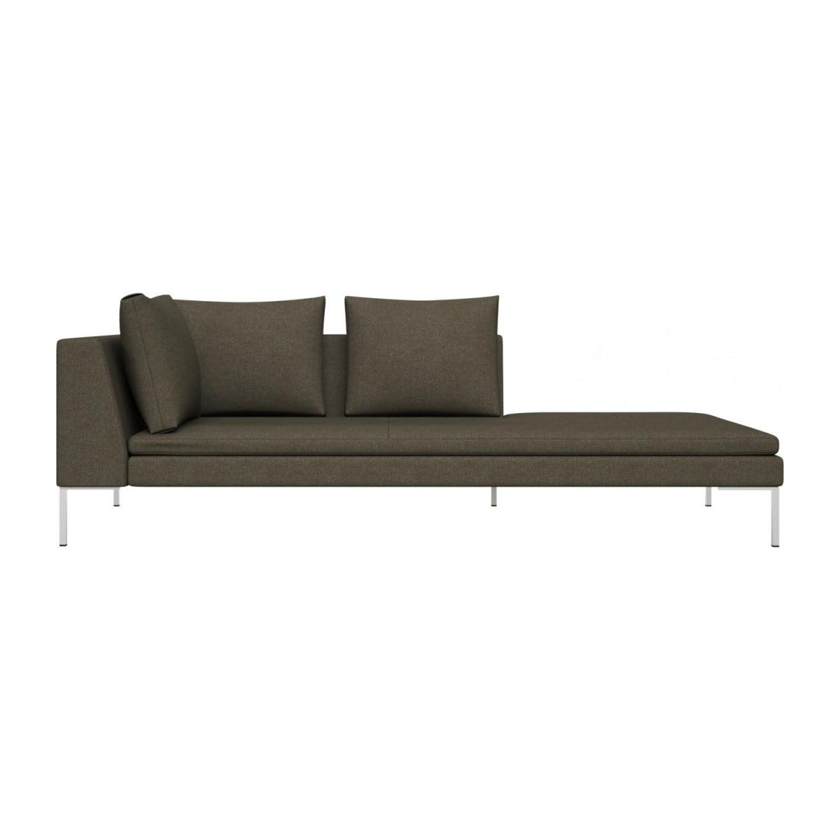 Right chaise longue in Lecce fabric, slade grey n°2
