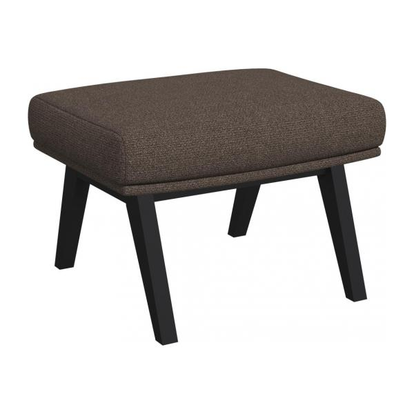 Footstool in Lecce fabric, muscat with dark legs