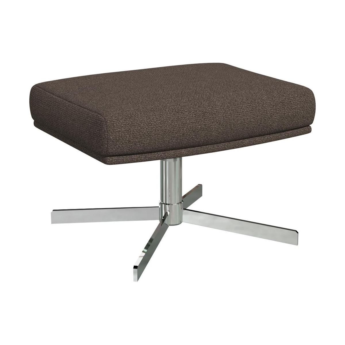 Footstool in Lecce fabric, muscat with metal cross leg n°1