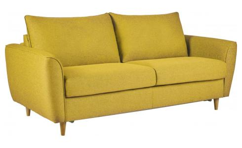 3 seater Fabric Sofa Bed Mustard