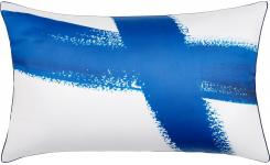 Printed Cotton Pillow Case Blue and White 50x80cm