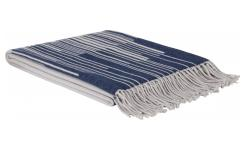 Cotton Throw 127x180cm Blue and Grey