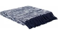 Textured Cotton Throw 130x150cm Blue