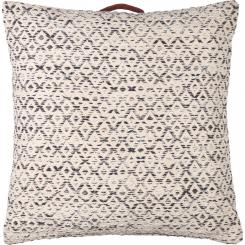 Cotton Floor Cushion 75x75cm Black and White