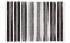 Woven Cotton Rug Black and White 120x180cm