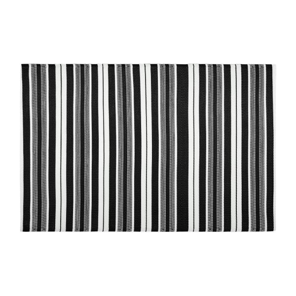 lines tapis d 39 ext rieur 120x180cm noir et blanc habitat. Black Bedroom Furniture Sets. Home Design Ideas